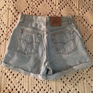 High rise vintage Levi's shorts